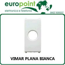 Coprifrutto Vimar Plana bianco per frutto TV SAT 1 foro antenna parabola