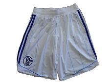 Adidas FC Schalke 04 Short / Hose 2012/13 weiss Gr.M