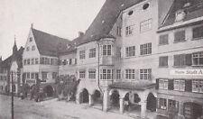 Isny - Rathaus mit Straßenzug - um 1920 -  RAR