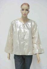 LEATHER Evening Jacket - PLUS SIZE, Slimming Shimmering Pearl - New WOW!