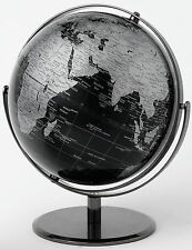 Black Geographical World Globe  Height 30.0cm NEW  19025