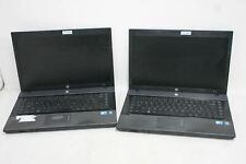 """HP 620 15"""" IntelCore 2 Duo CPU 4GB RAM No Hard Drive Laptop Computers Job Lot 2x"""
