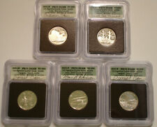 (5) Piece Set SILVER 2001-S STATEHOOD Quarter ICG PR 70 DCAM SIGNATURE SERIES