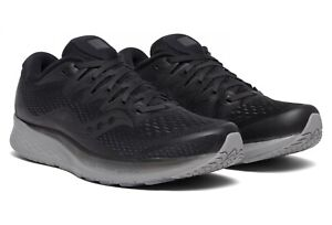 MENS SAUCONY RIDE ISO 2 LTD EDITION BLACKOUT RUNNING SHOES - IN STOCK