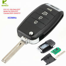 Flip Remote Car Key 3+1 Button 433MHz for Kia Soul 2014-2017 FCC ID: OSLOKA-875T