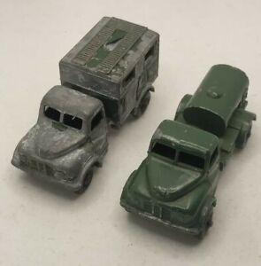 Two Matchbox Lesney Military No 71 Austin 200 Gallon Water Truck/ Ambulance MK2