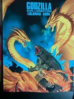 Godzilla Coloring Book: 50 amazing art designs for kids and adults, 99 pages NEW