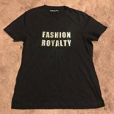 Topman moda realeza Negro Camiseta Con Diamanté-tamaño S