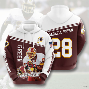 WASHINGTON REDSKINS Darrell Green 3D Unisex All Over Printed Hoodie