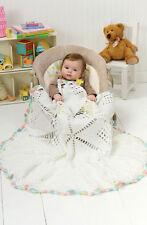 Crochet Pattern -Round Baby Cot/Pram Cover/Blanket P0086