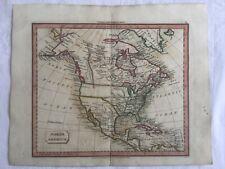 Original Vintage Map North America 1821 John Souter