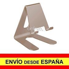 Soporte Mesa Aluminio para Móvil Tablet Sobremesa Base Universal DORADO a2973