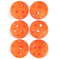 "6-Pack of Orange 12"" Plastic Softballs, Practice Balls, Training & Wiffle Ball"