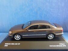 NISSAN CIMA 450 VIP 4.5 V8 2005 VINTAGE BRONZE JC08027VB 1/43 KYOSHO BROWN METAL