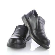 Skechers Ivy Black Leather Slip Resistant Loafers Work Shoes Mens 9 SN 76083