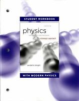 Student Workbook Physics for Scientists and Engineers Knight - BRAND NEW!