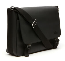 LACOSTE Men's Classic Messenger Bag Umhängetasche Tasche Black Schwarz Neu