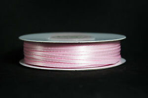"""MADE IN TAIWAN Double Face Satin Ribbon Polyester 39 Colors 1/16"""" 1/8"""" Spool"""