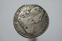 MEXICO 8 REALES 1810 WITH CHOP MARKS TRAVELLER'S COIN A83 #PZ2339