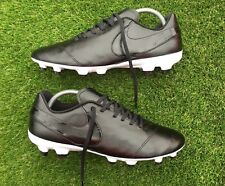 New Nike Tiempo Genio Leather II FG Football Boots Custom Blackout Academy UK 9