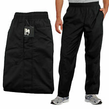 New Starter Mens Mesh Lined Black Athletic Track Pants Large (36-38) Drawstring