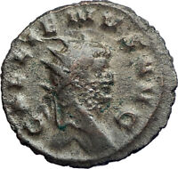 GALLIENUS son of Valerian I 260AD Silvered Ancient Roman Coin Victory i74249