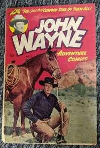 John Wayne #2 Adventure Comics Photo Cover 1950 Low Grade