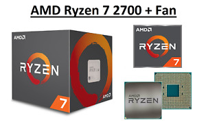 AMD Ryzen 7 2700 Octa Core Processor 3.2 - 4.1 GHz, Socket AM4, 65W Sealed Box
