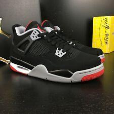 Nike Air Jordan 4 Retro Black Cement IV BRED 2019 GS Size 7Y Wmn size 8.5 Men 7