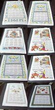 CALENDAR TOWEL WALL HANGINGS 1994 THRU 2009 R.BATCHELDER,KAY DEE,KD-G,W.BOUCHER