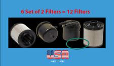 6 Set FD4615 2011-2017 6.7L Powerstroke Fuel Filter Fit F250 350 450 550 650 750