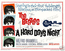 A HARD DAYS NIGHT LOBBY CARD POSTER HS THE BEATLES JOHN PAUL GEORGE RINGO