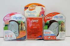 OFF Clip On Mosquito Repellent Fan Starter Kit NEW - 2 DEVICES 2 REFILLS