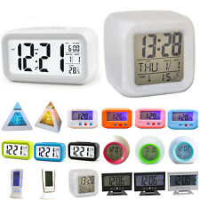Lcd Digital Clock Battery Operated Snooze Electronic Alarm Clocks Kids Room Gift