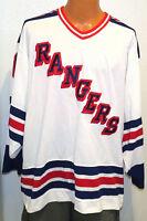 "vtg NEW YORK RANGERS Cosby CCM Jersey XL 90s Custom #00 ""Crotchy"" ny nhl white"
