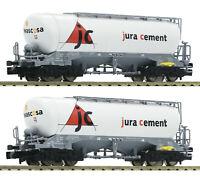 Fleischmann N 848902 Silowagen-Set Uacns 932 der Jura Cement/Wascosa  NEU + OVP