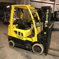 2015 Hyster S50FT 5000lbs Used Forklift w/Triple Mast Sideshift LP Gas