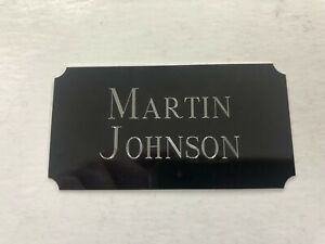 Martin Johnson - 95x50mm Engraved Plaque for Signed Memorabilia England Rugby