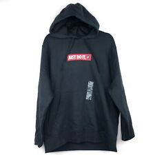 Nike Sportswear Club Fleece JDI Just Do It Pullover Hoodie Black Red Men's L-XL