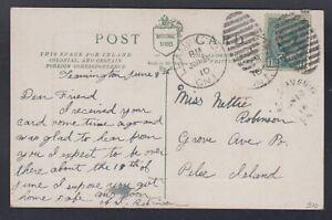 Canada 1910 Pelee Island Grove Avenue Postcard from Leamington