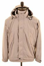 HELLY HANSEN Mens Rain Jacket Size 36 Small Beige Nylon  HP06