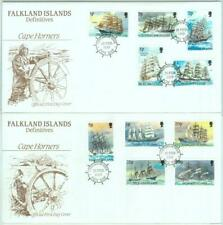 84372 - FALKLAND - Postal History - set of 15 stamps on 3 FDC COVER 1989 - SHIPS