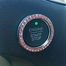 Bling Car Decor® Pink Crystal Car Bling Ring Emblem, Rhinestone Ignition Decal