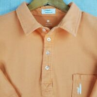 JOHNNIE-O Size Large Polo Shirt Mens Tangerine 100% Cotton Golf Casual Longboard