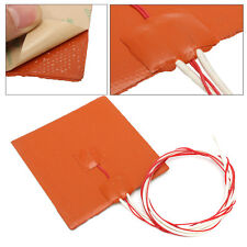 New 12x12cm 120W 12V Silicone Heater Pad For 3D Printer Heated Bed Heating Mat