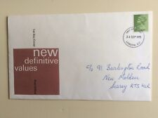 """Post Office First Day Cover """"New Definitive Values"""" 1975"""