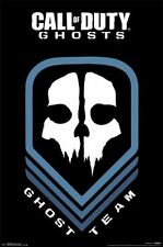 2014 ACTIVISION CALL OF DUTY GHOSTS GHOST TEAM SKULL LOGO POSTER  NEW 22x34