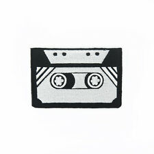 Embroidered Iron On Patch Cassette tape Retro Logo Badge Fabric Sew Craft DIY