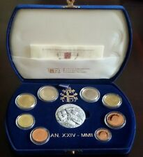 Vatican Proof Annual Coin Set 2002 Pope John Paul II 8 coins + silver medal +COA