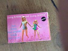 living Barbie and living Skipper 1970 met letter from Barbie